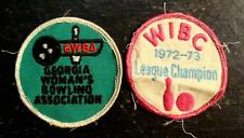 Two Bowling Patches-Georgia Woman'S Bowling Association/Wibc League Champs