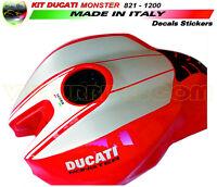 """Adesivi per serbatoio Moto - Ducati Monster 821/1200 """"V251"""""""
