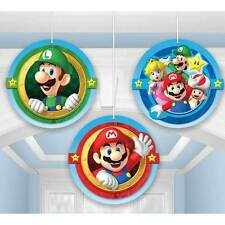 Super MARIO Bros Hanging Tissue Honeycomb Decorations Birthday Party Supplies