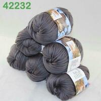 Sale Lot 6 Skeins Soft Worsted Cotton Chunky Bulky Hand Knitting Quick Yarn 32
