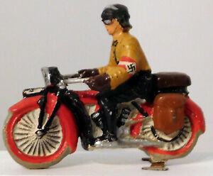 Lineol German Composition Soldier on Motorcycle #1