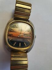 BWC Swiss Automatic 25 Jewels Day Date Vintage Swiss Elegant Casual Watch Gold