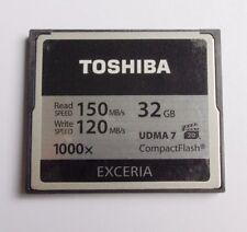 Toshiba 32GB EXCERIA 1000X CompactFlash CF Memory Card 150MB/S UDMA 7 For DSLR