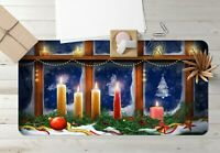 3D Fensterkerze H912 Christmas Rutschfest Schreibtisch Matte Tastatur Pad Amy