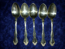 Westmorland George and Martha Washington - 5 LRG Sterling Silver Soup Spoons