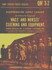 Wacs and Nurses Troops Clothing 1943 (eng) (QM32) Catalogue - DVD
