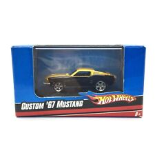Hot Wheels Custom 1967 67 Ford Mustang Black/Gold Car Die Cast 1/87 HO Scale