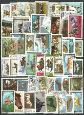 HORSE THEMED STAMPS X 50  -  GOOD MIX   -  ALL DIFFERENT
