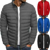 Men's Puffer Bubble Down Jacket Coat Lightweight Quilted Padded Overcoat Outwear