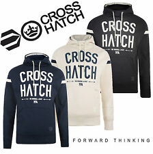 New Mens Crosshatch Hoodie Jumper Jersey Pullover Hooded Summer Jacket S-XL New