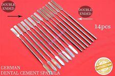 14 Pcs Set Dental Cement Spatulas Single Double Ended Cement Mixing German A