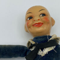 Antique Vintage  Norah Wellings? Cloth Velvet Sailor Boy Doll Missing Hat 7""
