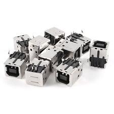 10 Pcs USB Female Type-B Port 4-Pin Right Angle PCB DIP Jack Socket S*