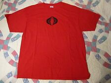 COBRA Black Logo Red T Shirt Adult XL G.I. JOE Snake.