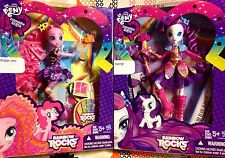 My Little Pony Rarity & Pinkie Pie Rockin' Hair Equestria Girl Dolls! LOT