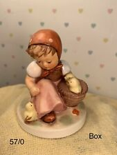 New ListingVintage Goebel Hummel Chick Girl 57/0 Tmk 6 3 1/2� Tall. Vgc. Original Box.