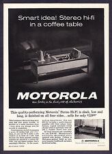 1962 Motorola Stereo Hi-Fi Coffe Table photo promo ad