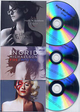 INGRID MICHAELSON Lot of 3 promo test CDs from Human Again Fire/Ghost/Blood