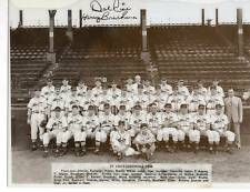 Harry Brecheen & Del Rice Signed 1946 St Louis Cardinals Team Original 10 X 8