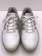 Adidas Boost Adipower Boa Core Golf Shoe Cleats White Metallic Men Size 10
