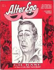 ALTER EGO #10 - 1969 comics fanzine Gil Kane interview, Jim Steranko, Joe Kubert