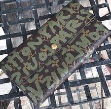 💥LOUIS VUITTON  Stephen Sprouse Khaki Green Graffiti Sarah Wallet! FINAL DROP !