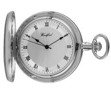 Woodford Swiss-made Mechanical Full-hunter Pocket Watch 1057 Men's Deep Dial