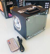 Tragbare Bluetooth Musikbox Lautsprecher MP3 Player Micro-SD USB Radio Glas
