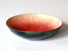 PAOLO DE POLI enameled copper bowl midcentury gio ponti