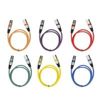 6X 3Pin XLR Audio Cable Male to Female Microphone Mic Cord 1-10M Lead 6 Colors