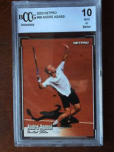 2003 NETPRO TENNIS ANDRE AGASSI BGS 10 GEM MT