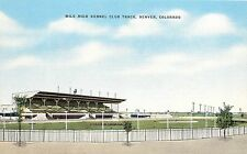 Vintage Postcard Mile High Kennel Club Dog racing Track Denver Colorado CO
