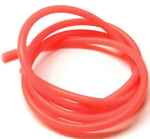 Light Red Silicone RC Nitro Glow Engine Fuel Line Tube Pipe 1 Meter 1/10 Scale
