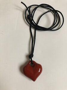 Rare Robert Lee Morris Collection Jasper Iconic Heart Pendant