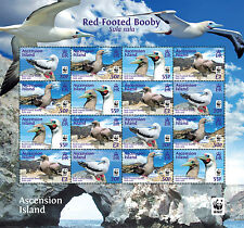 Ascension 2016 Red Footed Booby 16v sheet MNH