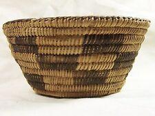 Pima (Akimel O'odham) Indian willow basket black devil's claw geometric designs
