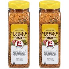 2 Pack Lawry's Perfect Blend Chicken & Seasoning Poultry Rub 24.5 oz