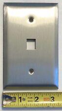 Semtron 1-Port Jumbo Single Gang Stainless Steel Faceplate, AMP SL Jacks