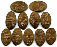 Epcot World Showcase China Pavilion Complete Set Of 11 Copper Pressed Pennies