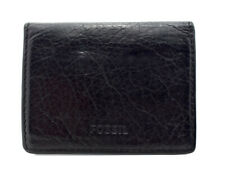 Fossil Mens Leather Bifold Card ID Wallet Black