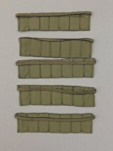 """5 21ST CENTURY TOYS GREEN MILITARY AMMO BANDOLIERS 1/6TH SCALE OR 12"""" FIGURES"""