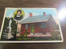 VINTAGE - JENNY WADE HOUSE AND MONUMENT IN GETTYSBURG PA POST CARD - VG
