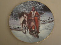 WINTER OF '41 Collector plate CHUCK REN The Last Warriors NATIVE INDIAN