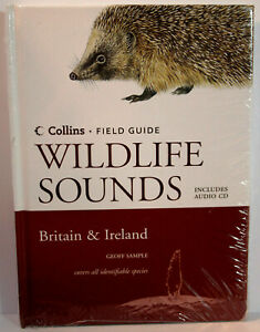 Collins Field Guide British Wildlife Sounds by Geoff Sample Book + CD NEW SEALED