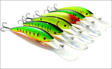 6pcs Minnow Fishing Lures Plastic Bait Wobbler Bass Crankbait Tackle 13.5CM/14g