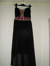 Jane Norman Strapless Black Beaded Dress Size 10 Never Been Worn