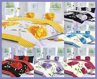 Rosaleen Patterned Duvet/ Pillow Case Bedding Set All Sizes