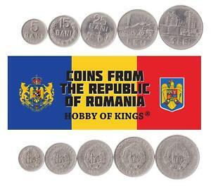 Set 5 Coins Socialist Romania 5 15 25 Bani 1 3 Lei 1960 - 1963