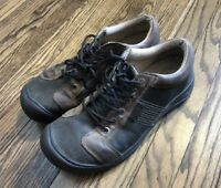 Keen Mens Brown Leather Hiking Trail Shoes Size 11.5