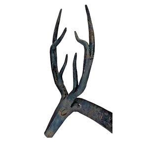 Iron Rustic Deer Taper Candle Stick Holder Size 10in High x 10in Long x 3in Wide